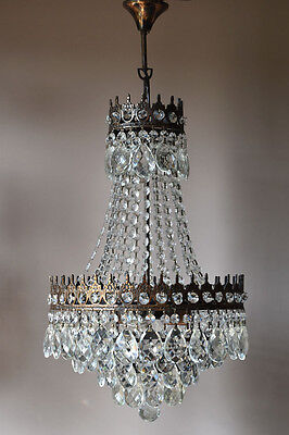 Antique French Chandelier Vintage Pendant Crystal Chandelier Lamp Light Fittings