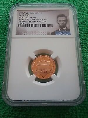Perfect 2017 S Lincoln Penny Ngc Pf70 Ultra Cameo Early Release Very Popular!!!