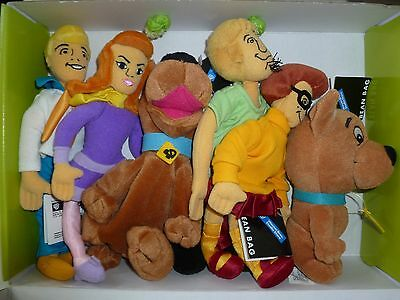 """FULL SET SCOOBY DOO Vintage Tags New Bean Plush Shaggy Scrappy Warner Beanies 9"""""""