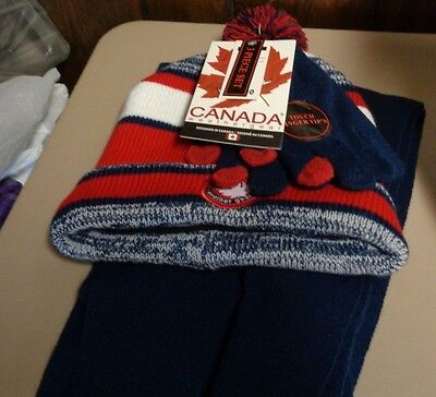 NEW ~ Winter Accessory Set. Knit Hat, Touch Gloves & Scarf. Canada Weather Gear.