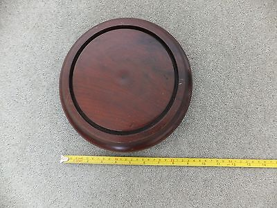 Salvaged antique base for glass display dome [mahogany]