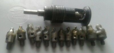 Microstop Countersink Cage 1/4-28 threaded with 12 new cutters aircraft tools