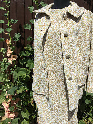 Vintage 1960s 2 piece dress and jacket
