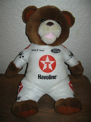 "Havoline / Ford Racing Advertising Collectible Teddy Bear 1999- 13"" Plush"