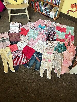 Huge Bundle Of Quality Baby Girls Clothes 3-6 Months 60 Items!! Vgc Some New!!!