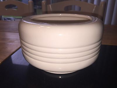 Haeger Pottery Off White Ribbed Planter Bowl #303