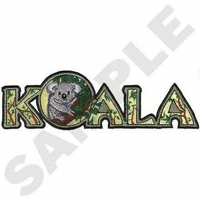"""Koala Embroidered Patch 7.9"""" x 2.5"""""""