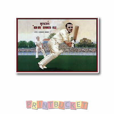 Reschs retro Cricket sticker Water/fade proof vinyl beer fridge man cave