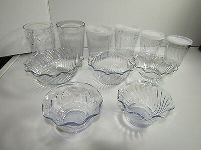 Dinex Dessert Swirl Tulip Bowls and  Cups  Lot of 11