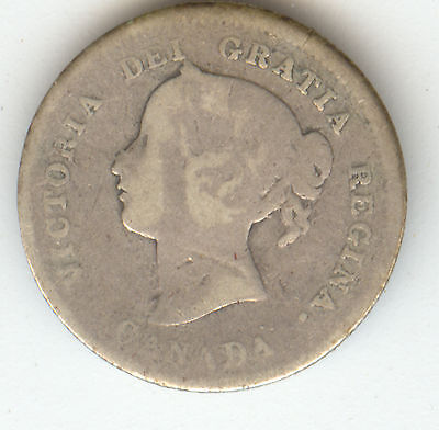 Canada 1872H Silver Five Cents! Nice!