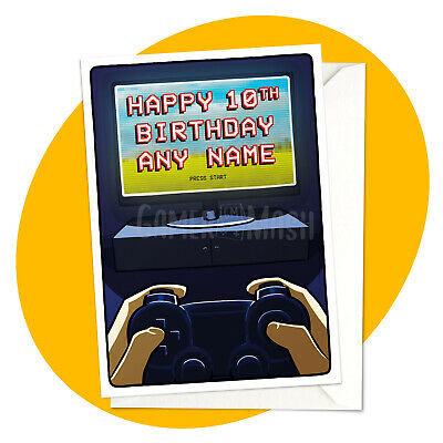 PERSONALISED BIRTHDAY CARD - Night Gamer  - video games pc fps rpg xbox ps4 fun