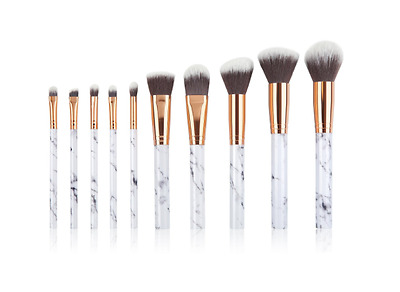 10 Pieces Marble Make Up Brushes ,Professional Unique style Makeup Kabuki Brush