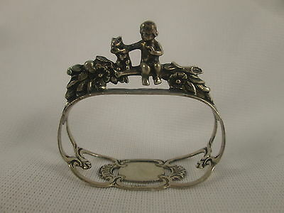Figural Napkin Ring Child Putti Squirrel CS&Co West Germany 835 Sterling Silver