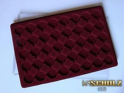 Plastic Coin Tray For 40 Coins Up To 32mm 20p, Sovereign, 1 Euro, 10p Small PO40