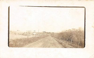Postcard Scene Country Road Unposted RPPC Vintage PC