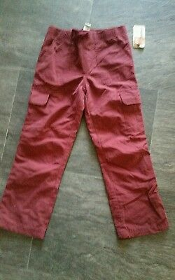 NWT Kids Boys Ruff Hewn Red Maroon Cargo Lined Pants size Small 5