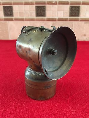 Antique Justrite  Patent Dates 1913 Miners Brass Carbide Lamp Mining