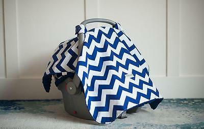 Carseat Canopy 100% Cotton Infant Car Seat Canopy Cover, Jagger, NEW