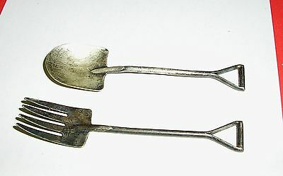 Antique Felmore Pitchfork and Shovel STERLING SILVER Fork and Spoon - UNUSUAL