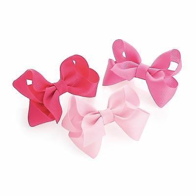3x BABY GIRLS SMALL HAIR BOW CLIPS BOW HAIR CLIP LITTLE GIRLS BABIES BOW CLIPS