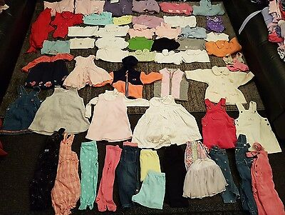 baby girls 9-12 12-18 months clothes bundle 60 items