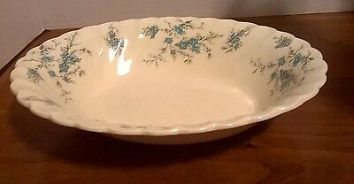 """Antique MYOTT STAFFORDSHIRE WARE FORGET ME NOT 10"""" Oval Vegetable Bowl"""