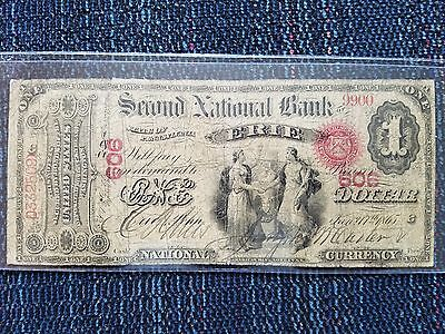 ERIE,PA 1865 $1 2ND NAT BANK 606 Bank National Currency 3 known per KELLY BOOK!