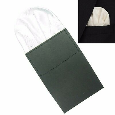 Mens Satin Pocket tie Wedding Handkerchief Formal New