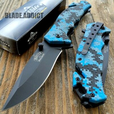 Ballistic Digi Camo Combat Tactical Spring Assisted Open Rescue Pocket Knife-U