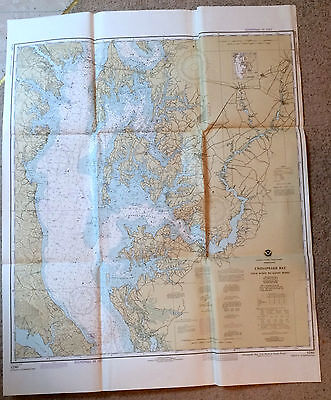 Vintage Navigational Chart #12263 Chesapeake Cove Point to Sandy Point 1980 NOAA