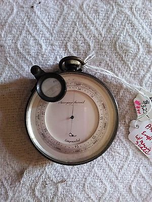 ANTIQUE Altitude Aneroid COMPENSATED Barometer LONDON (revised)