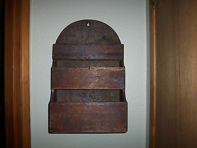 Early Primitive Wood Wall Box