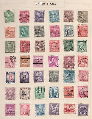 UNITED STATES Coll. On old Album Page War, Liberty, etc Removed for Shipping#