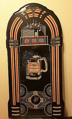 BUDWEISER Beer Jukebox Wall Clock Canadian