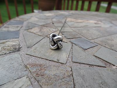 Victorian Hat Pin Sterling Love Knot Marked On Shank