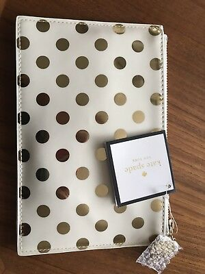 KATE SPADE - Pencil Pouch  Gold Dot - Six Pieces Included!  Brand New with tags