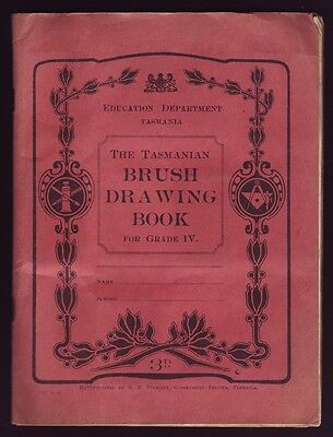 1960's • Education Dept, Tasmania • Tasmanian Brush Drawing Book for Grade IV