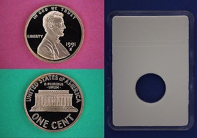 1991 S Proof Lincoln Memorial Cent Penny With DIY Slab  Combined Shipping