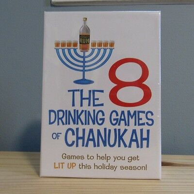 The 8 Drinking Games Of Chanukah Holiday Party Favor Fun Novelty Best Gift