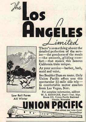 1935 Union Pacific: The Los Angeles Limited. (6610) Print Ad