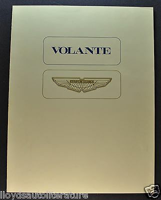 1979 Aston Martin Volante Sales Brochure Folder US Market Excellent Original 79