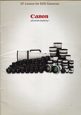 Canon Ef Lens For Eos Cameras Brochure. 28 Pages Full Colour. Good Cond. Only.