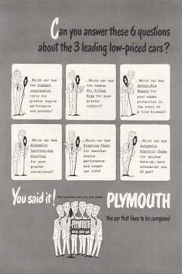1949 Plymouth: Can You Answer These (20045) Print Ad