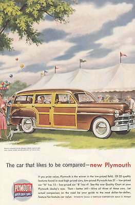 1949 Plymouth: The Car That Likes to Be Compared (4391) Print Ad