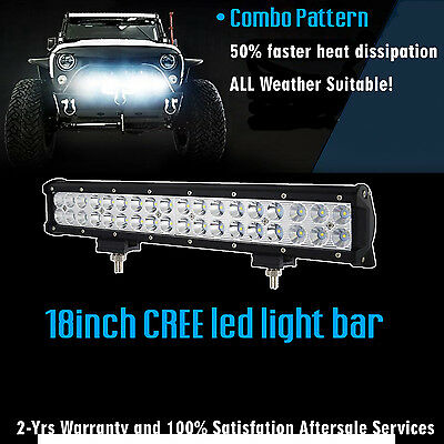 18 inch CREE LED Light Bar SUV ATV 4WD UTE Off Road Boat Fog Truck Jeep Ford 17