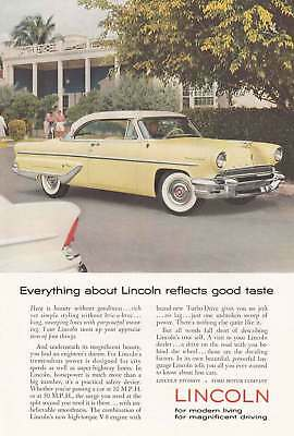 1955 Lincoln: Beauty Without Gaudiness (9795) Print Ad