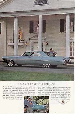 1964 Cadillac: First One Up Gets the Cadillac (4174) Print Ad