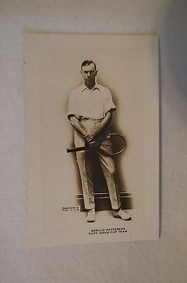 1923-24 - Rare - Vintage - Pals Card - Real Photo - Gerald Patterson - Tennis