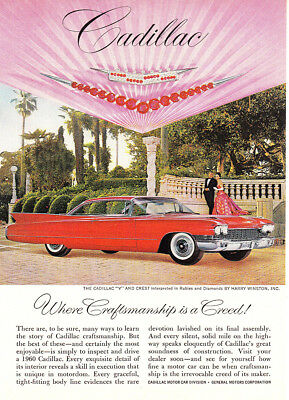 1960 Cadillac: Craftsmanship Is a Creed (24210) Print Ad