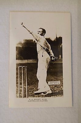 1923-24 - Rare - Vintage - Pals Cricket Card - Real Photo - A.A.Mailey - N.S.W